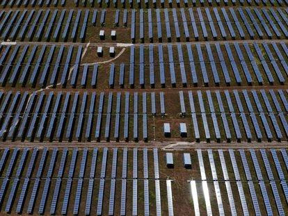 Una planta fotovoltaica en Trujillo, Cáceres.