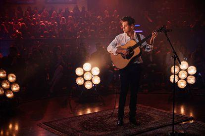 Harry Styles actúa en mayo en el programa de televisión 'The Late Late Show with James Corden'.