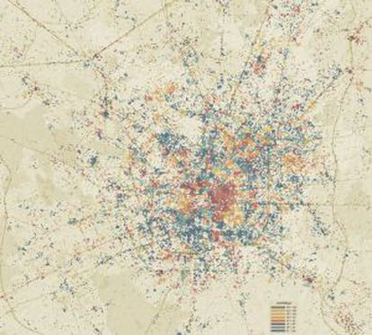 Primera prueba del proyecto Urban Sensing con datos proyectados sobre la ciudad italiana de Milán.