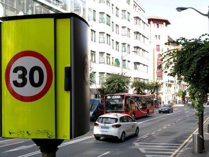 Señalización en las calles de Bilbao.