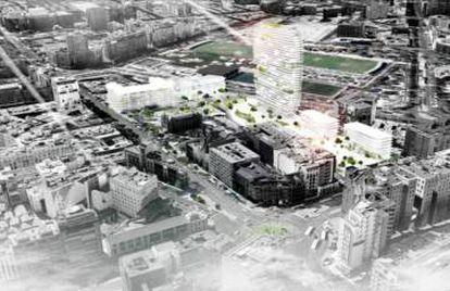 Proyecto de viviendas en Cuatro Caminos de la cooperativa Metropolitan.