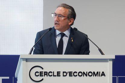 El conseller de Economía y Hacienda, Jaume Giró participa en la XXXVI Reunión del Cercle d'Economia este viernes.