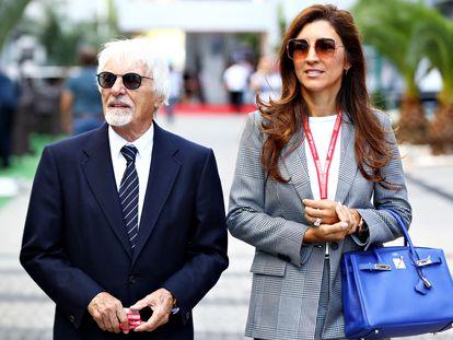 Bernie Ecclestone y su esposa Fabiana en Sochi, Rusia, en septiembre de 2019.