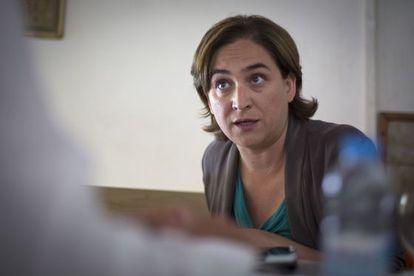 Ada Colau, durante la entrevista.