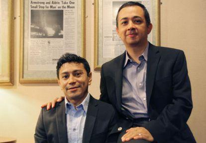 Rodrigo Martínez (izquierda) y Edwin Echegoyen, en Washington.