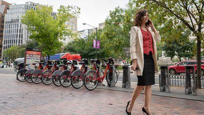 La presidenta de la Comunidad de Madrid, Isabel Díaz Ayuso, en Washington, la semana pasada.