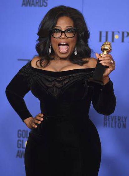 Oprah Winfrey tras recibir el premio Cecil B. DeMille en 2018.