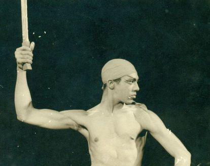 El bailarín cubano Eduardo Rivero Walker, durante una actuación.