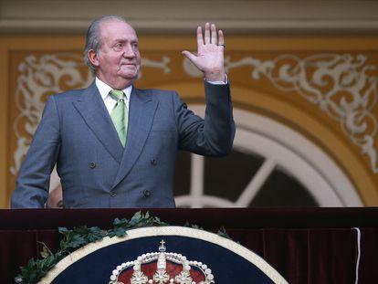El rey emérito en una imagen de 2014 en la plaza de Las Ventas, en Madrid.