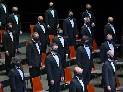 Una imagen de la representación de 'Il Trovatore' en el Liceo.