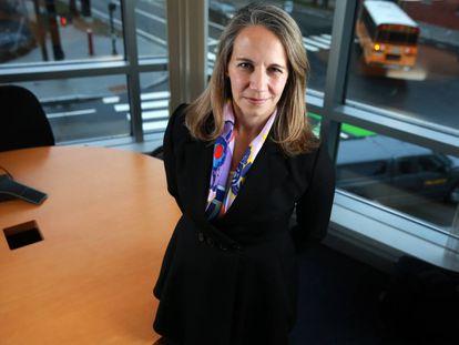 Katrine Bosley, directora ejecutiva de Editas Medicine, en Cambridge.