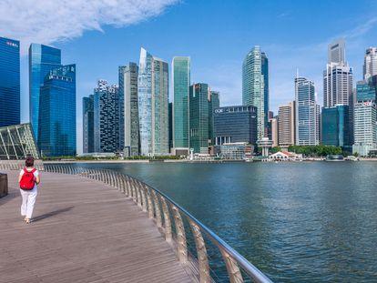 Una panorámica de Marina Bay, la bahía de Singapur.