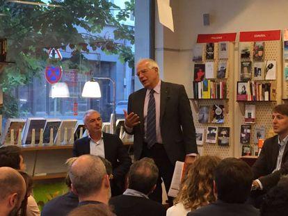 Josep Borrell durante el acto en Bruselas, este martes.