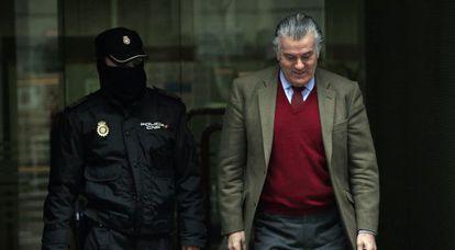 Luis Bárcenas, a su salida de la Audiencia Nacional.