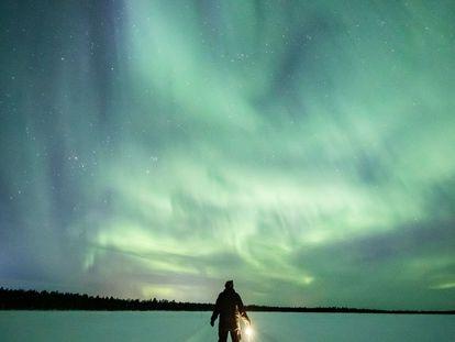 Aurora boreal en Finlandia, este 2 de marzo.