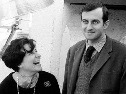 Juan Goytisolo y su pareja Monique Lange, en 1964.