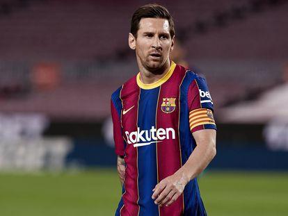 Leo Messi, durante el partido entre el Barça y el Villarreal.