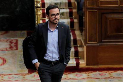 El ministro de Consumo, Alberto Garzón, este jueves en el Congrso de los Diputados.