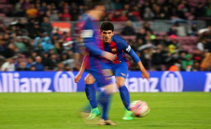 Aleñá, un partido con el Barça.