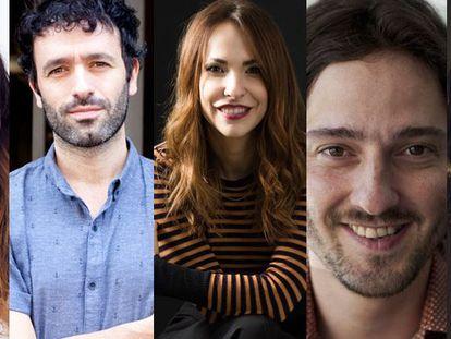 Leticia Dolera, Rodrigo Sorogoyen, Paula Ortiz, Carlos Marqués-Marcet y Elena Martín, directores de la serie 'En casa'.