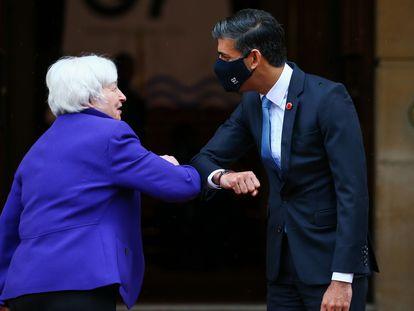 Janet Yellen y Rishi Sunak, en la cumbre del G-7 celebrado en Londres la semana pasada.