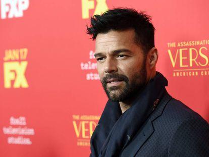 Ricky Martin, uno de los protagonistas de 'The Assassination of Gianni Versace: American Crime Story', a su llegada al preestreno de la serie en Los Ángeles el pasado lunes.
