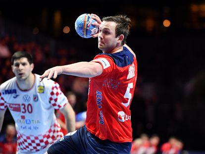 El noruego Sagosen, contra Croacia en la semifinal del pasado Europeo.