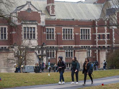 Estudiantes en Princeton, Nueva Jersey.