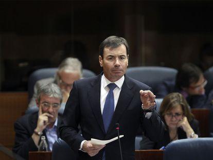 Tomás Gómez, secretario general del PSM, durante su intervención sobre desahucios en la Cámara