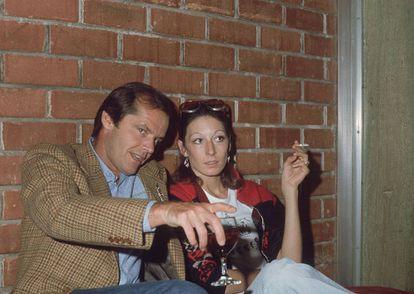 Jack Nicholson y Anjelica Huston fotografiados en 1974. Eran la pareja de moda en Hollywood. En cualquier sitio, en realidad.