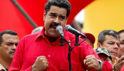 Nicolás Maduro gesticula durante un acto gubernamental en Caracas.