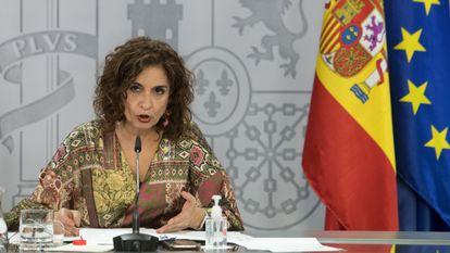 La ministra de Hacienda, María Jesús Montero, tras el consejo de ministros del 22 de diciembre.