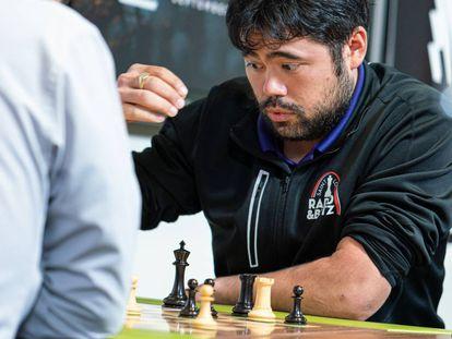 Hikaru Nakamura, en agosto de 2019, durante un torneo en el Club de Ajedrez de San Luis (Misuri, EEUU)