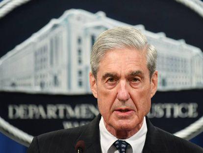 Robert S. Mueller, el pasado 29 de mayo en el Departamento de Justicia.