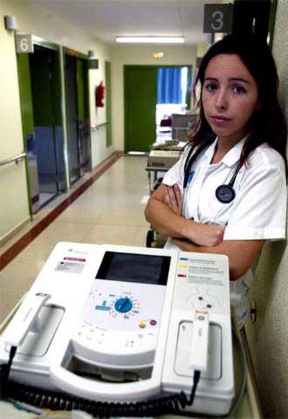 Ona Meroño, en el hospital Josep Trueta de Girona, donde trabaja.