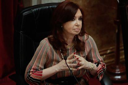 La vicepresidenta argentina, Cristina Fernández de Kirchner, en diciembre de 2020.