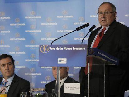 José Luis Bonet, durante su intervención este martes en Madrid en el Foro Nueva Economía.