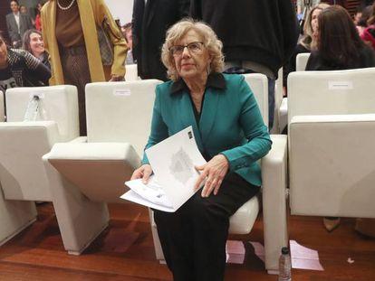 Manuela Carmena, en la presentación de la exposición urbana