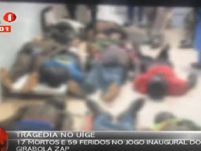 Imagen de un vídeo publicado en Youtube por la televisión pública de Angola.