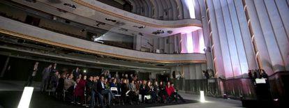 Los antiguos cines Carlos III durante la presentación de Platea Madrid.