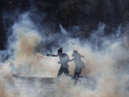Protestas en Santiago de CHile.