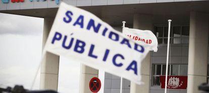 Protesta por la sanidad pública del pasado diciembre en Madrid.