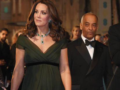 La duques de Cambridge, en los British Academy Film Awards (BAFTA).