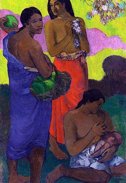 <i>Maternidad (II)</i> (hacia 1899), de Gauguin, vendido en Nueva York por 30,7 millones de euros.