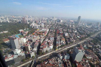 Vista de la Ciudad de México del 13 de mayo de 2016.