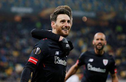 Aduriz celebra su gol al Zorya.