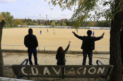 Instalaciones del campo de futbol del CD Aviación.