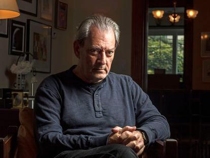 El escritor estadounidense Paul Auster, el miércoles durante la entrevista en su casa en Nueva York.