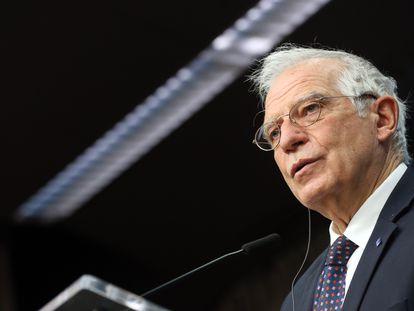 Josep Borrell, el 11 de febrero en Bruselas.
