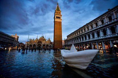 Venecia, inundada el día 17 de noviembre